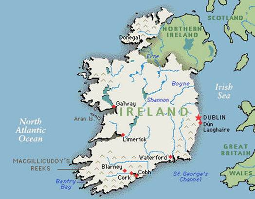 a geographical overview of ireland
